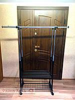 Вешалка-стойка для одежды напольная с полкой