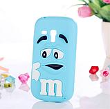 Чехол силиконовый M&M's для Samsung Galaxy S3 mini I8190 зеленый, фото 3