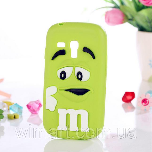 Чехол силиконовый M&M's для Samsung Galaxy S3 mini I8190 зеленый