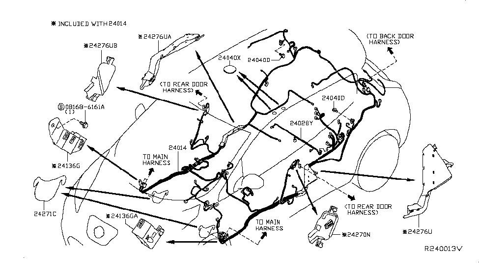 Проводка салонная Nissan Leaf 13-17