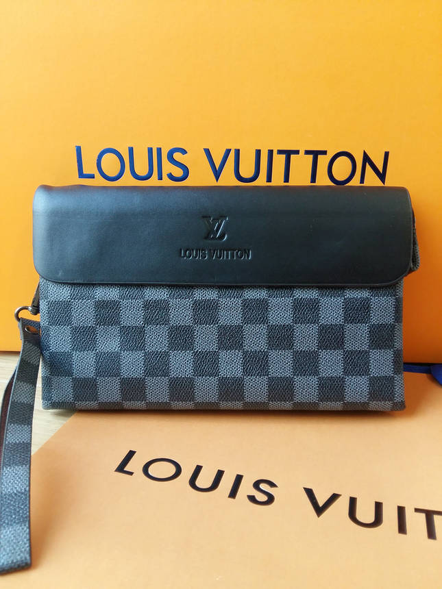 Клатч Louis Vuitton серая клетка, фото 2