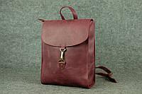 Кожаный женский рюкзак Marchen XL | Винтажный Бордо, фото 1