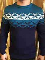 Теплый свитер с орнаментом.