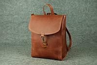 Кожаный женский рюкзак Marchen XL | Винтажный Коньяк, фото 1