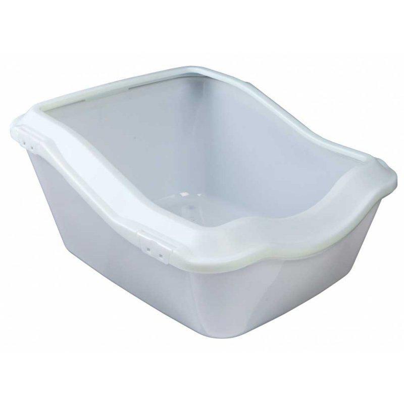 TRIXIE (Трикси) CLEANY CAT 45х54х21-29 см - туалет для кота с бортиком, белый