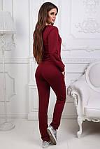 """Трикотажный спортивный женский костюм """"Ollis"""" со шнуровкой и карманами (3 цвета), фото 3"""
