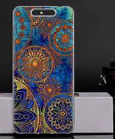 Силиконовый чехол бампер для ZTE Blade V8 с картинкой Круги винтаж