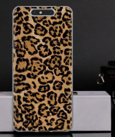 Силиконовый чехол бампер для ZTE Blade V8 с картинкой Леопардовый принт