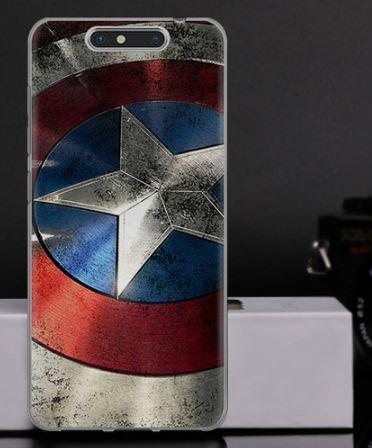 Силиконовый чехол бампер для ZTE Blade V8 с картинкой Капитан Америка
