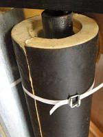 Скорлупа ППУ для теплоизоляции труб, Д 168 мм. с пергамином