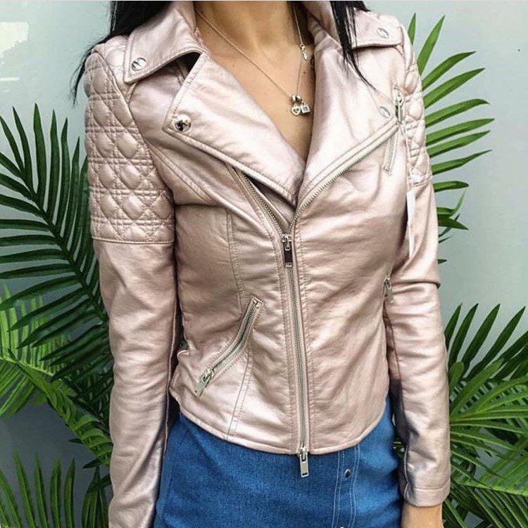 Косуха куртка из экокожи Zara II с заклепками