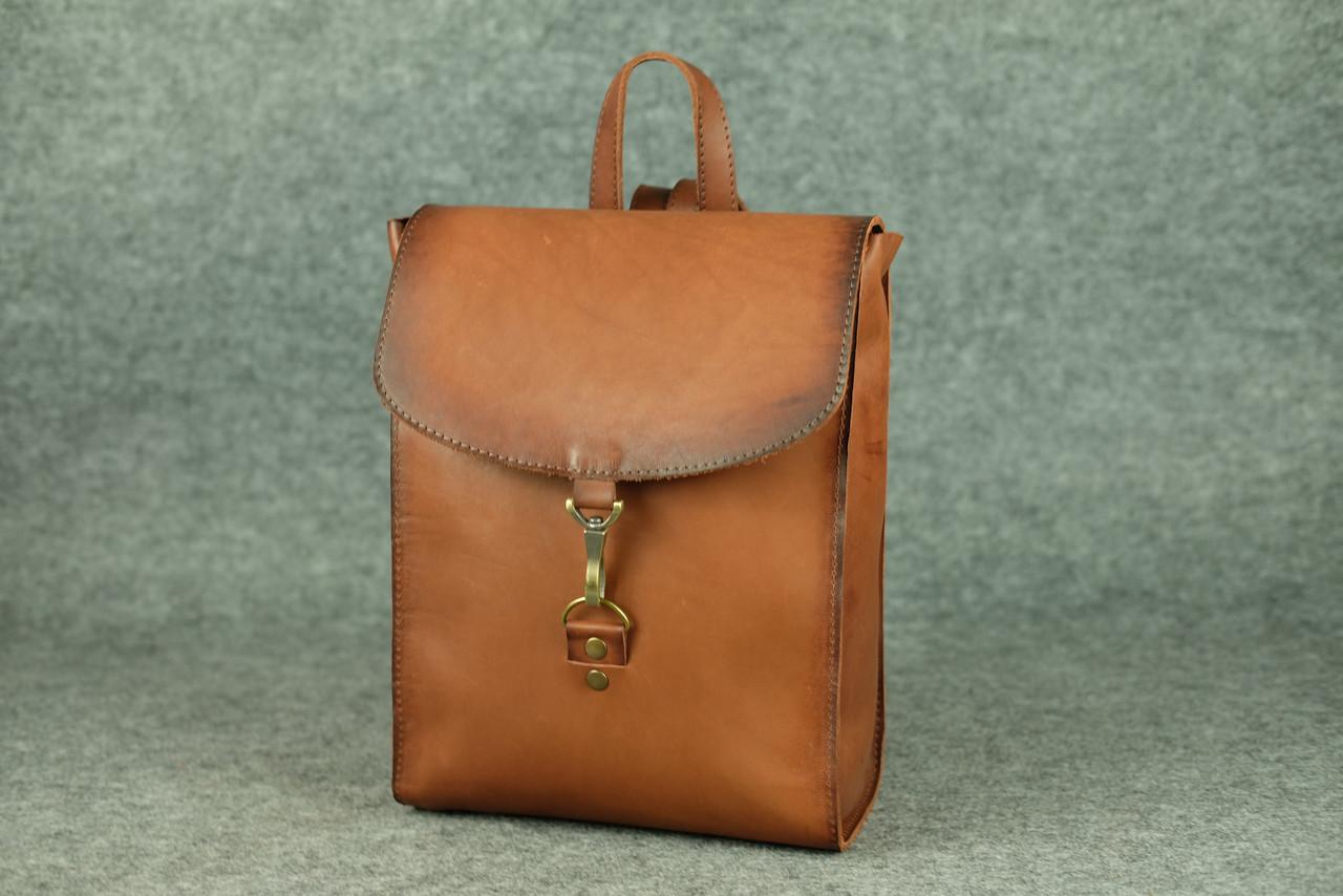 Кожаный коричневый рюкзак Marchen Орех ручной работы для девушки ... d9123470d11