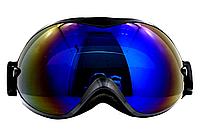 Маска (очки) горнолыжная  NICE FACE 077 (черный)