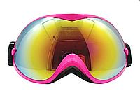 Маска (очки) горнолыжная  NICE FACE 077 (розовый)