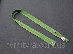Метал YKK 70cm 065 зелений 1 біг №3 нікель