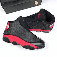 Air Jordan 13 Retro Black Red | мужские кроссовки; осенние/весенние; красные/черные