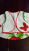 Летний костюм маки на девочку 134-140 из натуральной ткани