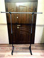 Вешалка-стойка для одежды напольная с полкой, фото 1