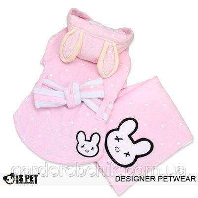 """Банный комплект """"Розовый кролик"""" для собак, кошки Is Pet. Одежда для животных"""