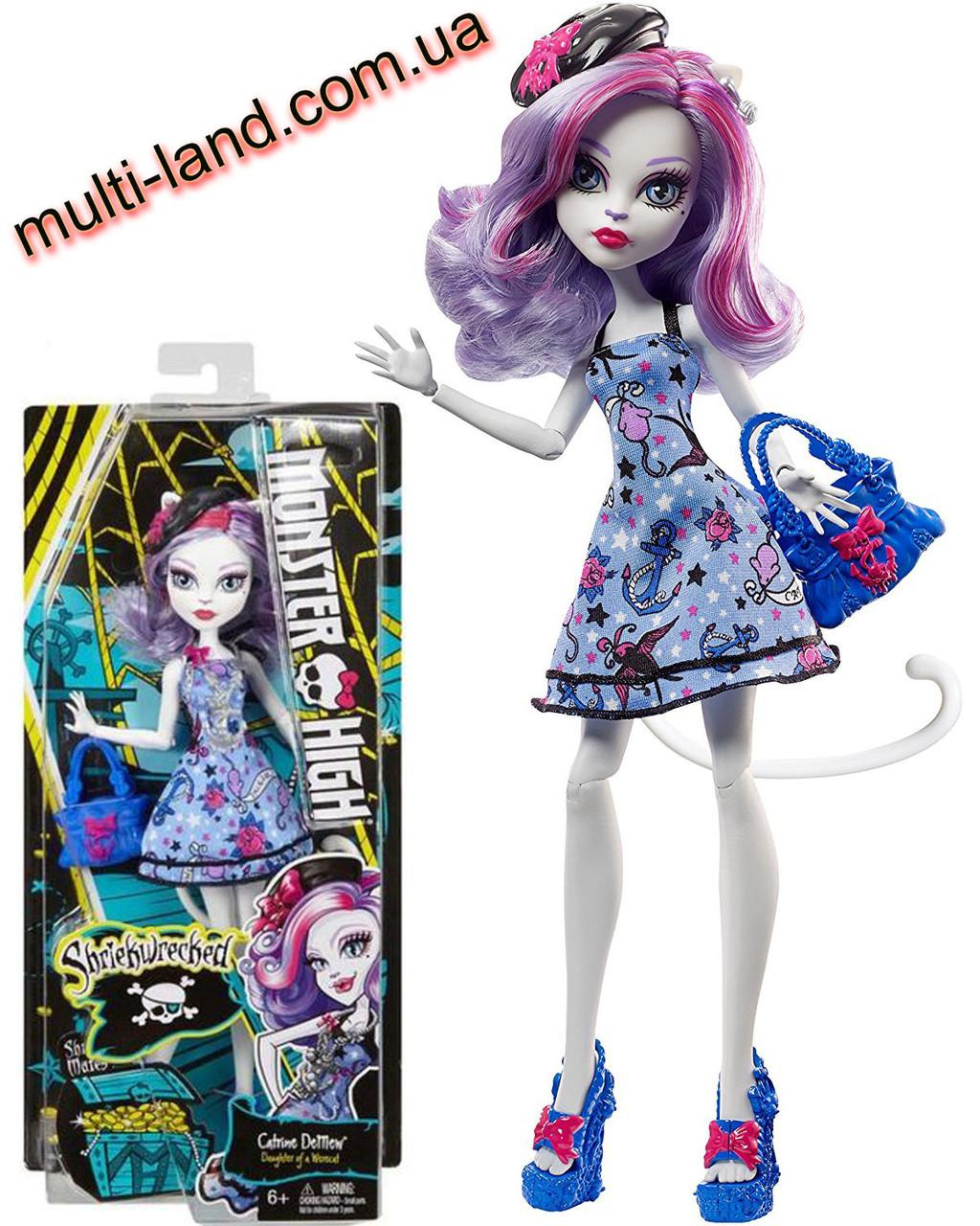 Кэтрин Демяу из серии Кораблекрушение Кукла Монстер Хай Monster High Shriekwrecked Shriek Mates Catrine Demew