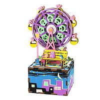 Robotime Музыкальная шкатулка конструктор «Колесо обозрения»