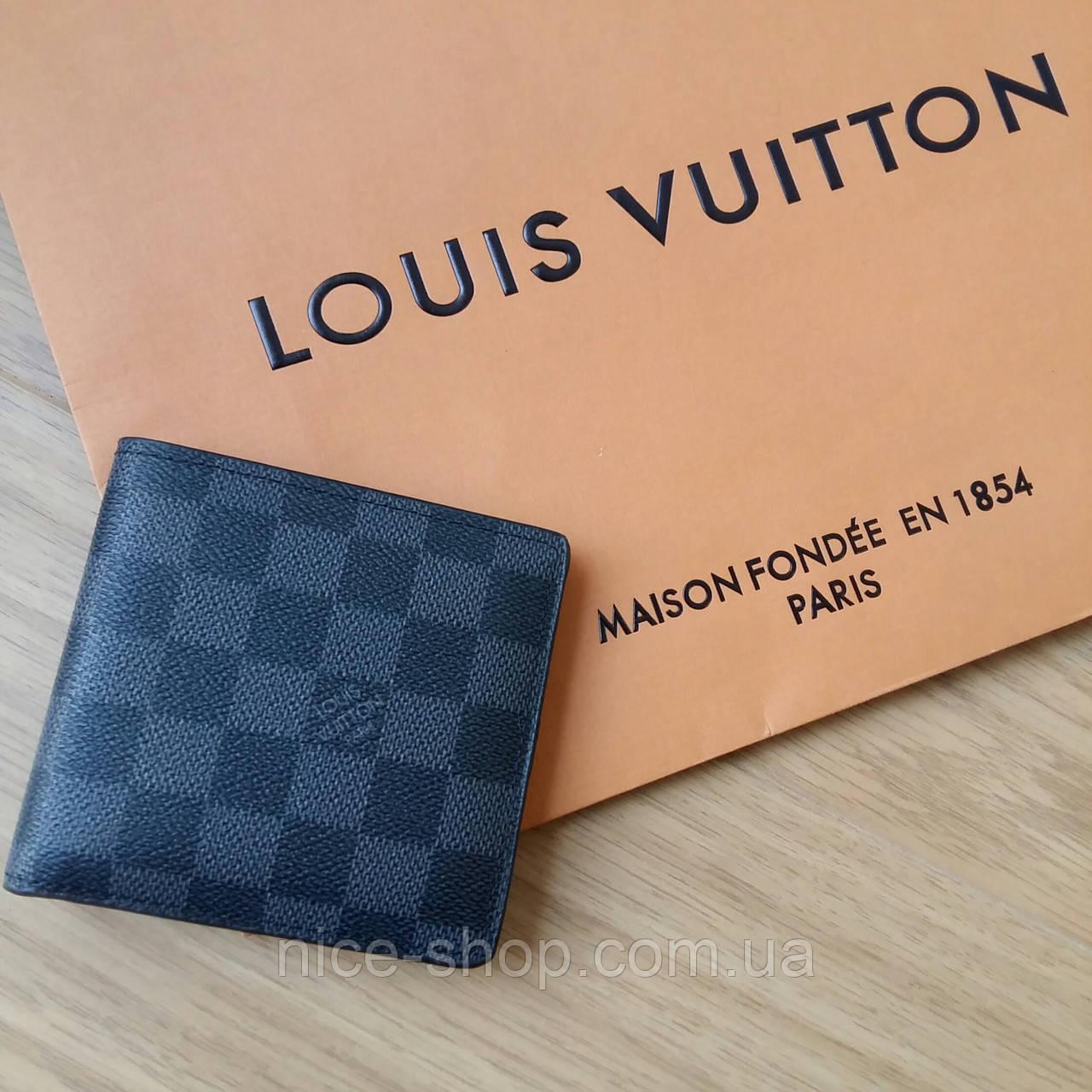 Кошелек Louis Vuitton серая клетка