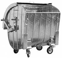 Контейнер для сбора ТБО оцинкованный с сферической стальной крышкой