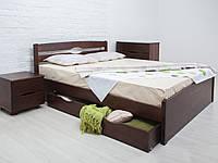 Кровать деревянная Лика Люкс с ящиками ТМ ОЛИМП