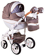 Детская коляска 2 в 1 Adamex Monte Deluxe Carbon D34