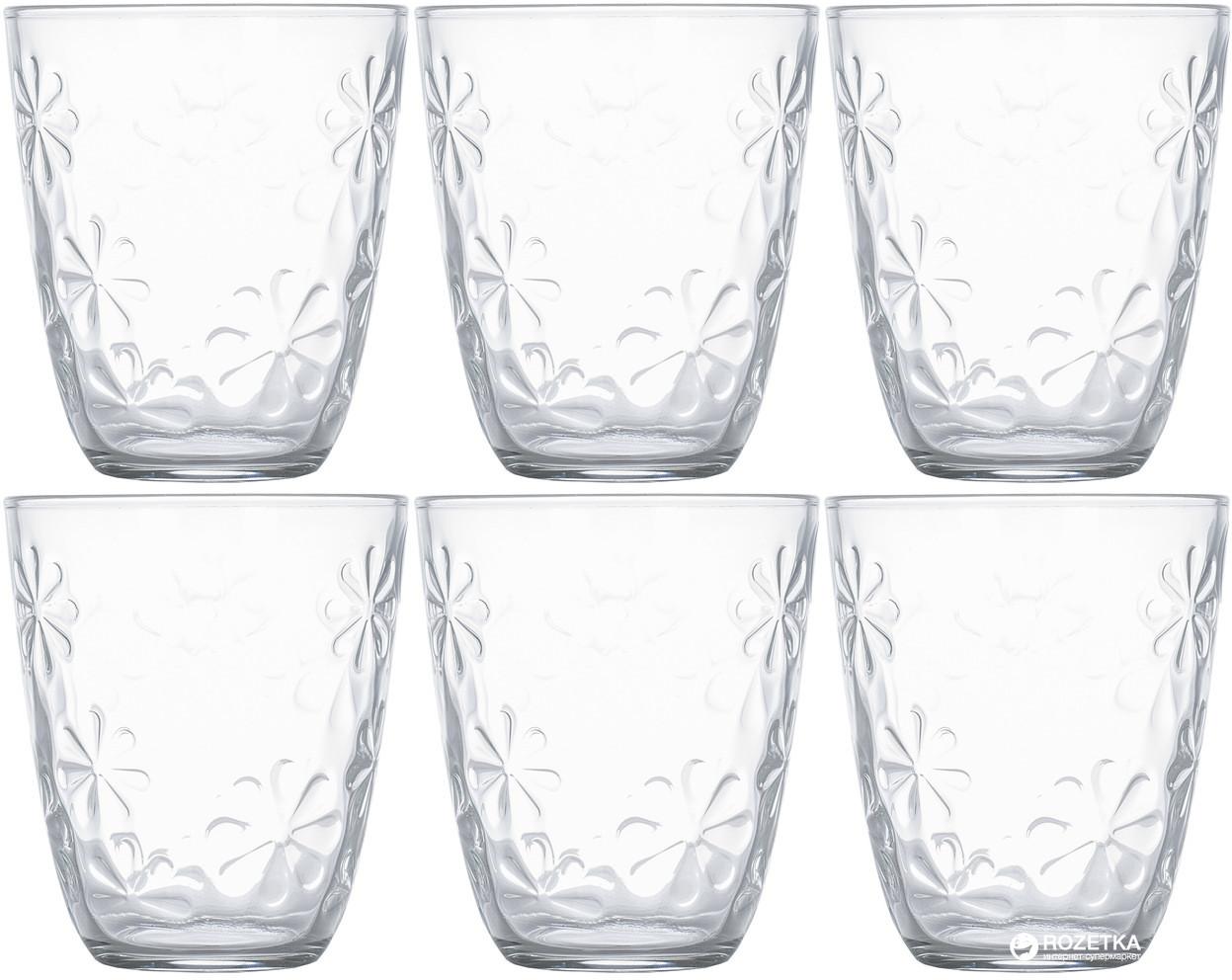 Набор низких стаканов с фактурными цветами Luminarc Neo flower 310 мл 6 шт (N0336)