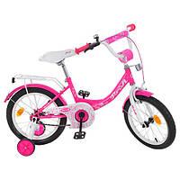 Двухколесный велосипед PROFI 14 дюймов Y1413 Princess малиновый