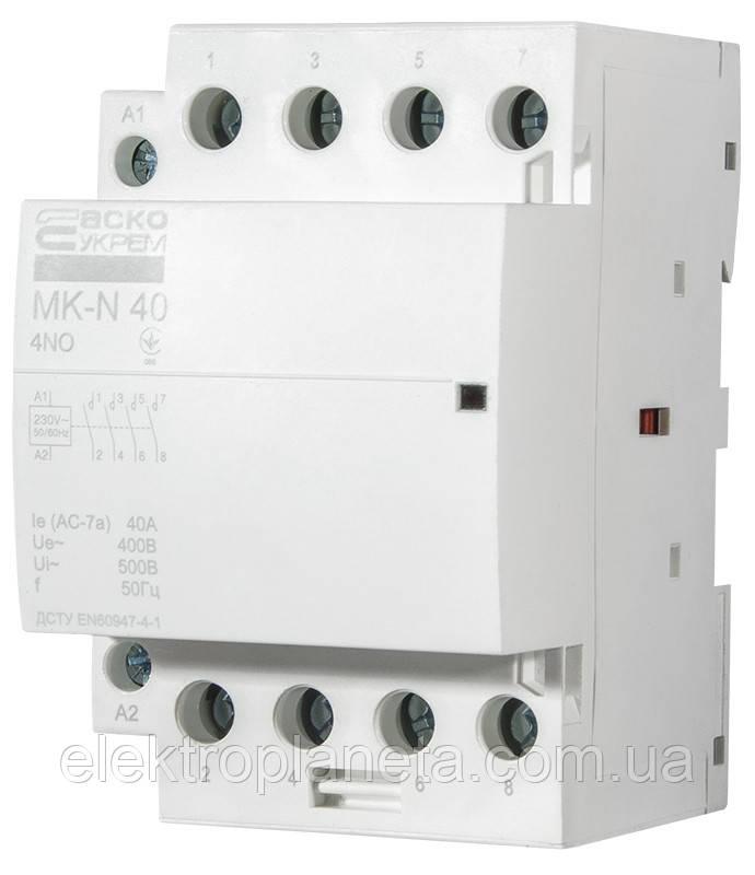 Модульний контактор MK-N 4P 40A 4NO