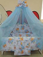 Комплект постельного белья 9в1 голубой