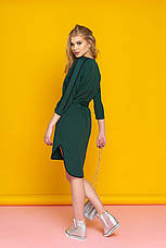 """Женское стильное прямое платье с поясом и красивой отделкой """"Лависта"""" (зеленый), фото 2"""