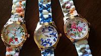 Модные женские часы Geneva Flower