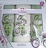 """Подарочный набор полотенец """"Isabella"""" (баня+2 лица) TWO DOLPHINS, Турция розовый 0171"""