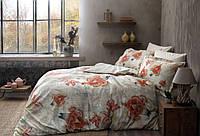 Набор постельного  белья TAC  семейный   Didgital Satin Carly V01 оранжевый