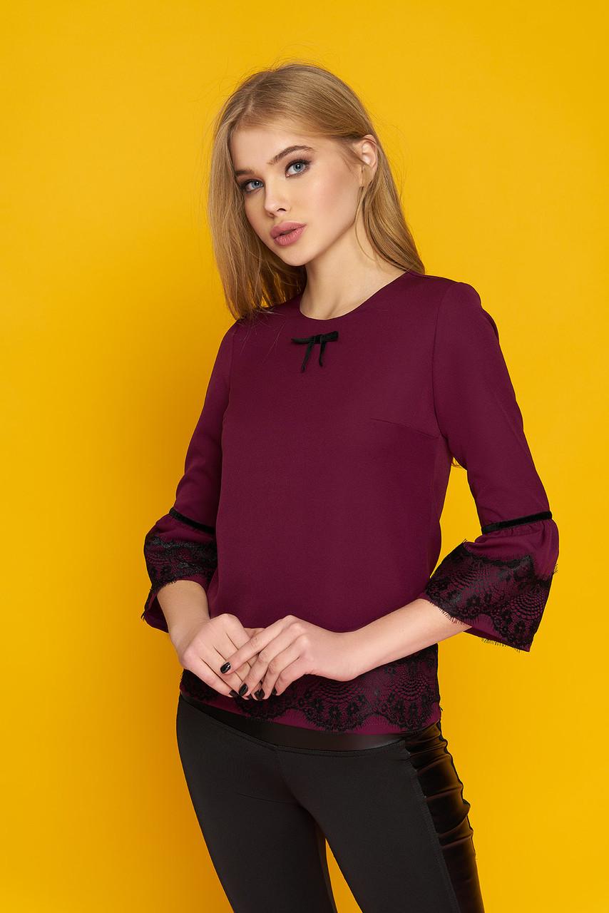 2a0a6d5a559 Блуза с кружевом Кристина 42-52р - Wellness-sistem - интернет магазин  одежды и