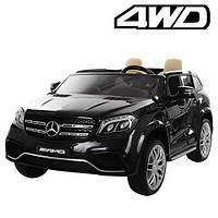 Детский электромобиль двухместный Mercedes AMG 4WD черный