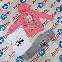 Трикотажный детский спортивный костюм тройка для девочек BBW.kids, фото 1