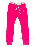 Брюки спортивные с начесом для девочек Aldrich Kids 6005-10 розовые 146