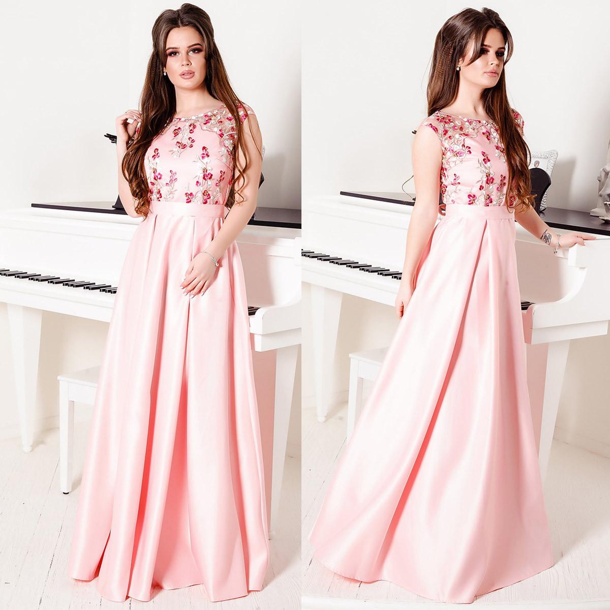 """Роскошное выпускное, вечернее розовое длинное платье """"Венеция"""""""