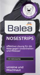 Очищающие накладки для носа с активированным углем Balea Nosestrips mit Aktivkohle, 3 шт.
