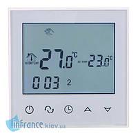 Терморегулятор для нагревательных панелей Klimteh BHT-321GB White, фото 1