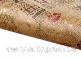 Бумага упаковочная Губы крафтовая 50*70 см