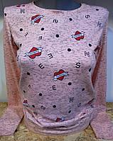 Батник с сердечками коттоновый женский Fashion, фото 1