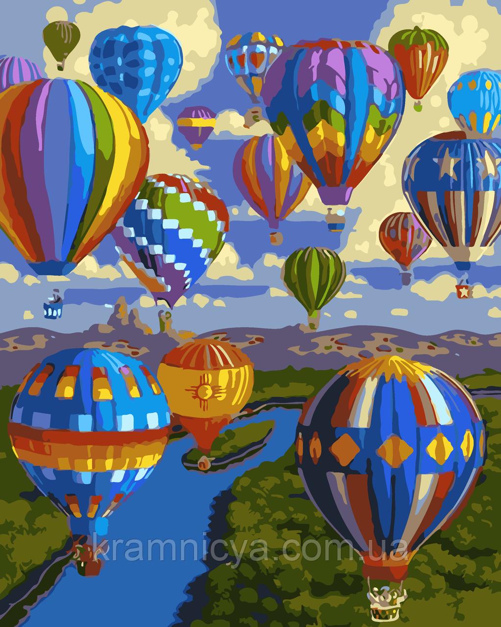 Живопись по номерам 'Воздушные шары', 40х50 (AS0034)