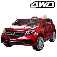 Детский электромобиль двухместный Mercedes AMG 4WD автопокраска красный