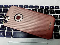 Силиконовый чехол YouYou рыфленый iPhone 6S/6, бежевый