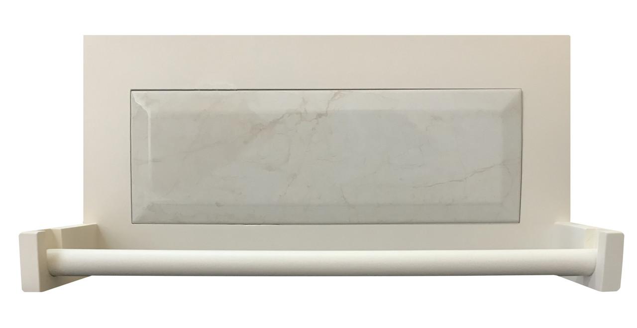 Полочка с держателем для бумажных полотенец Прованс декорированная плиткой для сублимации